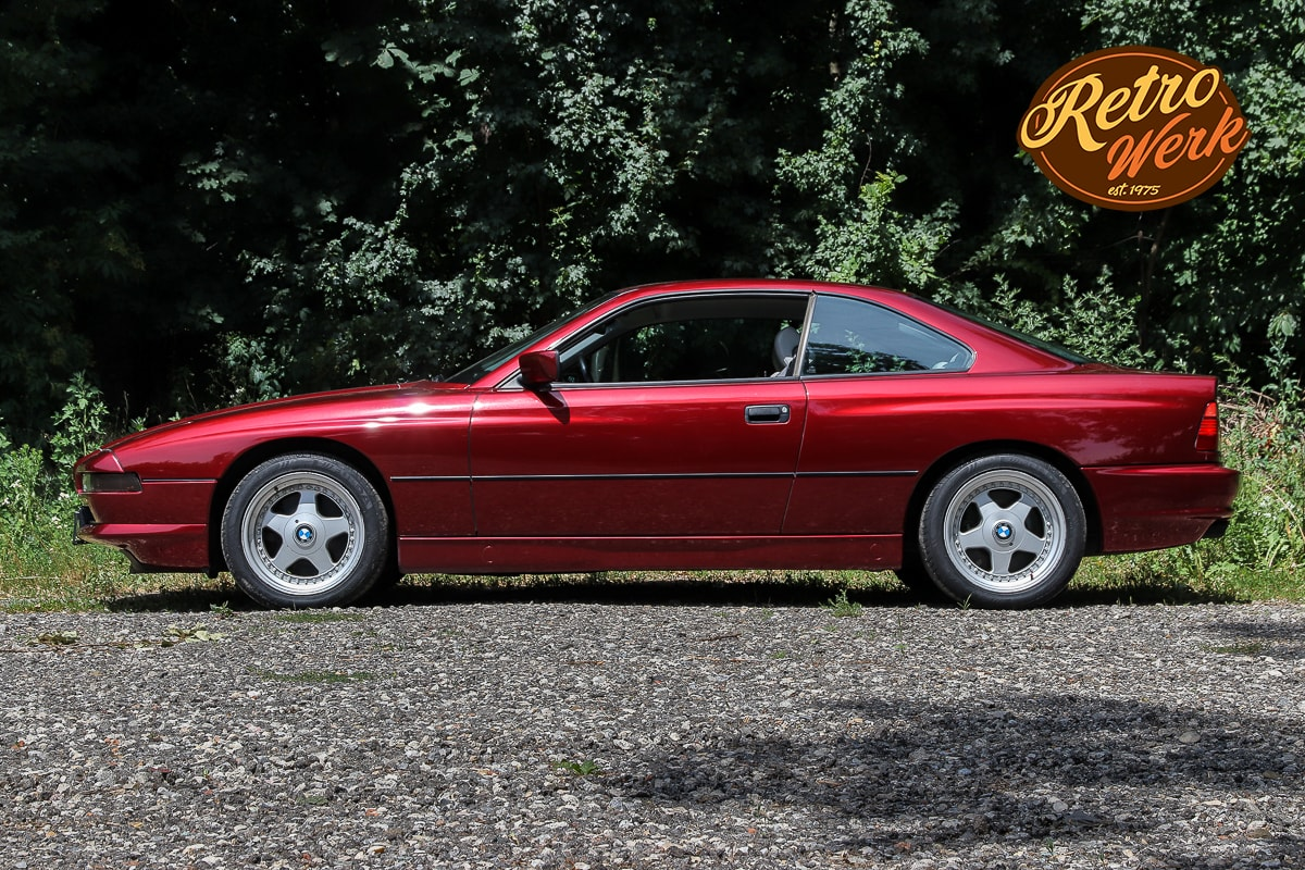 BMW 850i in rot by Retrowerk