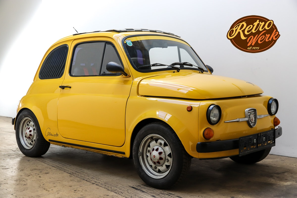 Fiat 500 Abarth in gelb by Retrowerk