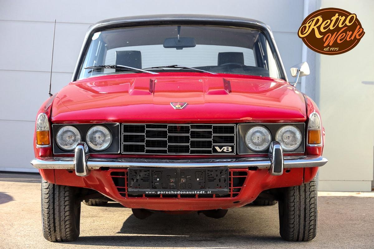 Oldtimer Rover 3500S V8 in rot von Retrowerk